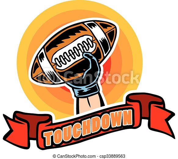 touchdown badge comic style vector illustration of clip art rh canstockphoto com referee touchdown clipart