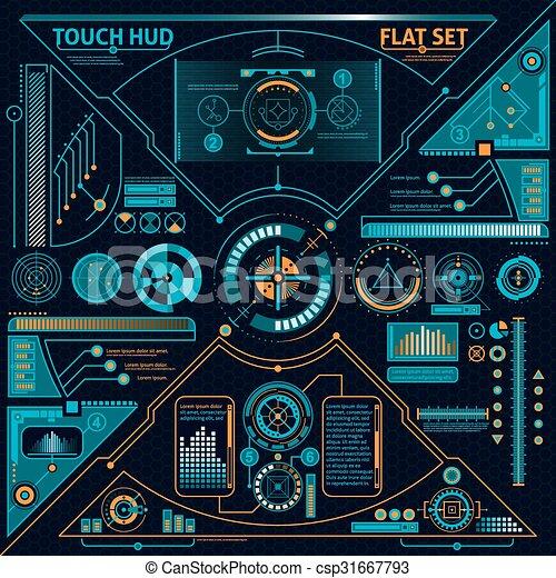 toucher, ensemble, hud - csp31667793