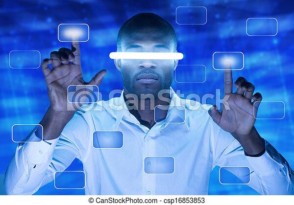 touchscreen, bottone - csp16853853
