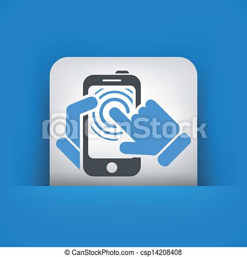 touchscreen, concept, smartphone, icône - csp14208408