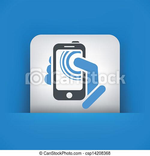 touchscreen, concept, smartphone, icône - csp14208368