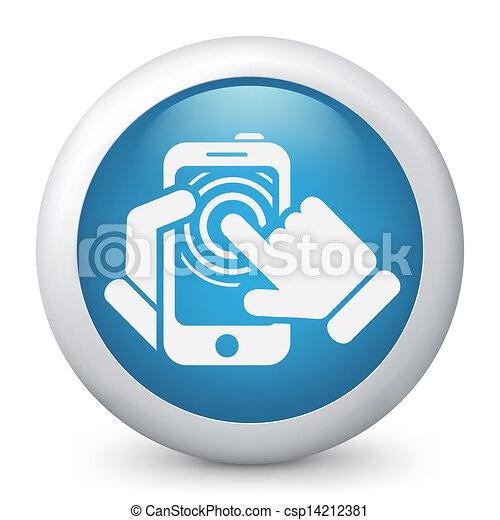 touchscreen, concept, smartphone, icône - csp14212381