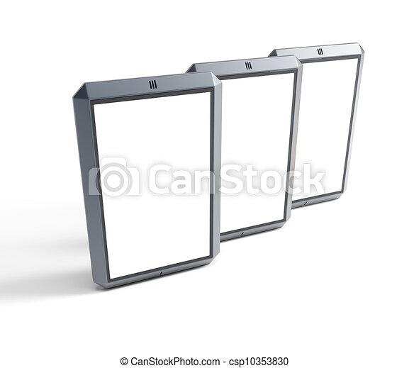 Un conjunto de smartphones de pantalla táctil modernos - csp10353830