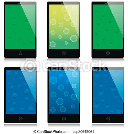 Un conjunto de smartphones de pantalla táctil - csp20648061