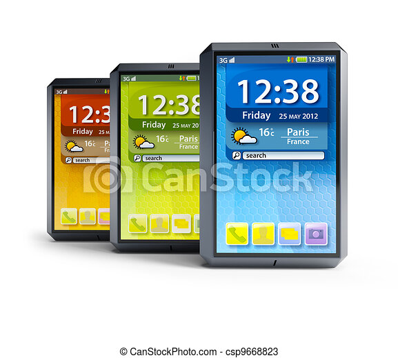 Un juego de teléfonos inteligentes - csp9668823