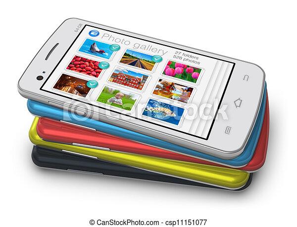 Un juego de teléfonos inteligentes - csp11151077