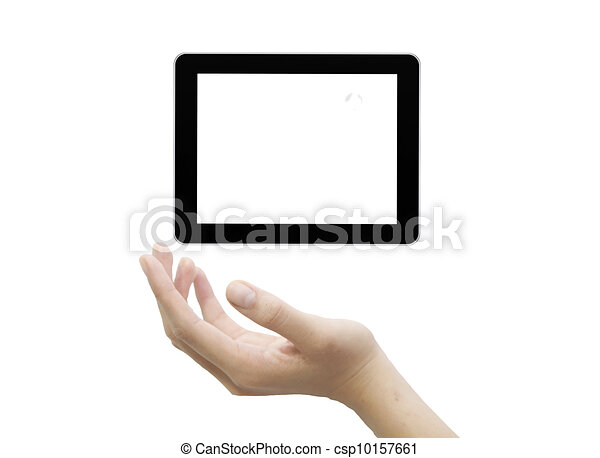 touchscreen, informatique, mâle, main - csp10157661