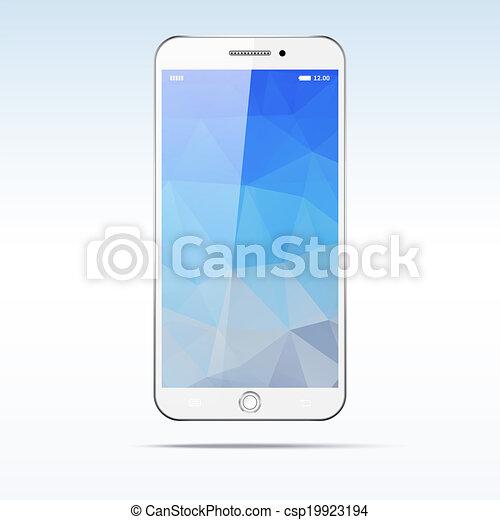 Modernes Touchscreen Smartphone - csp19923194