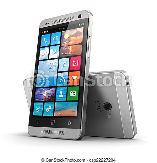 touchscreen, moderne, smartphone - csp22227204