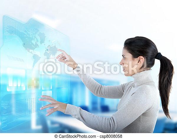 touchscreen, moderno, diaplay - csp8008058