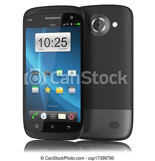 Teléfono de pantalla táctil moderno. - csp17399790
