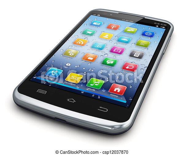 Un teléfono moderno - csp12037870