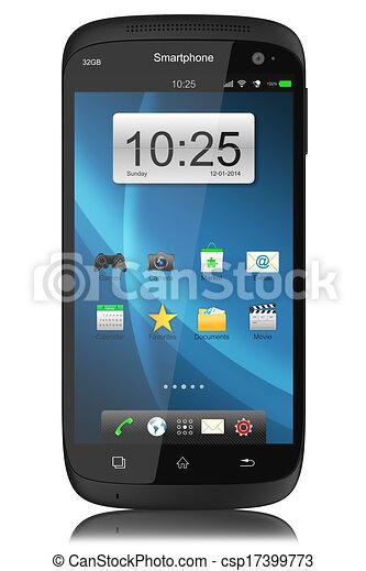Teléfono de pantalla táctil moderno. - csp17399773