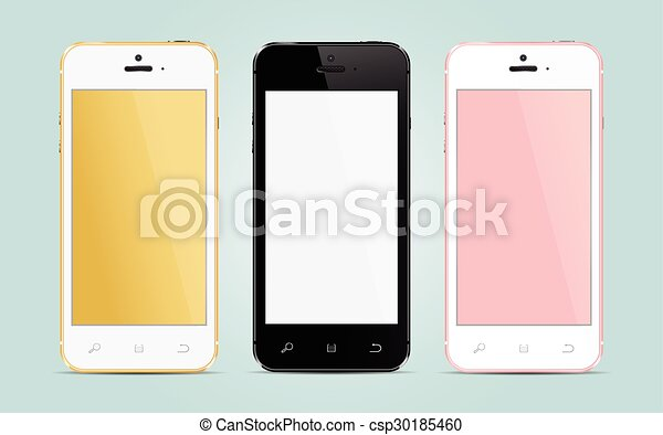 Teléfonos de pantalla táctil modernos - csp30185460