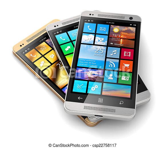 Teléfonos de pantalla táctil modernos - csp22758117