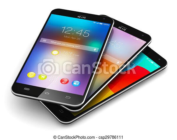 Teléfonos de pantalla táctil modernos - csp29786111