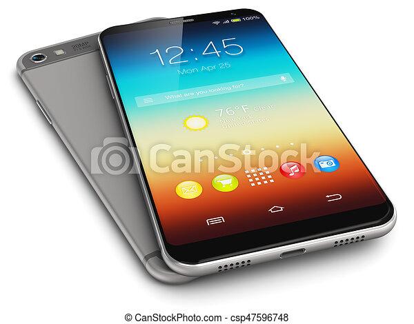 Teléfonos de pantalla táctil modernos - csp47596748