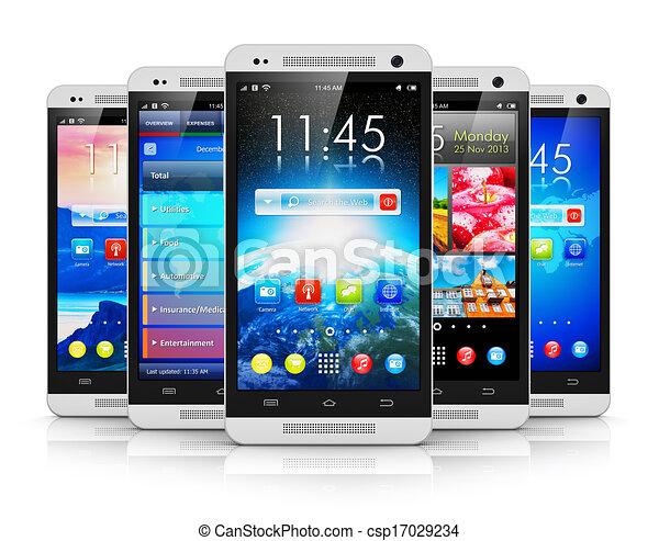 Teléfonos de pantalla táctil modernos - csp17029234