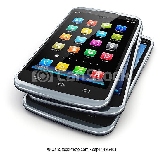 Teléfonos de pantalla táctil modernos - csp11495481