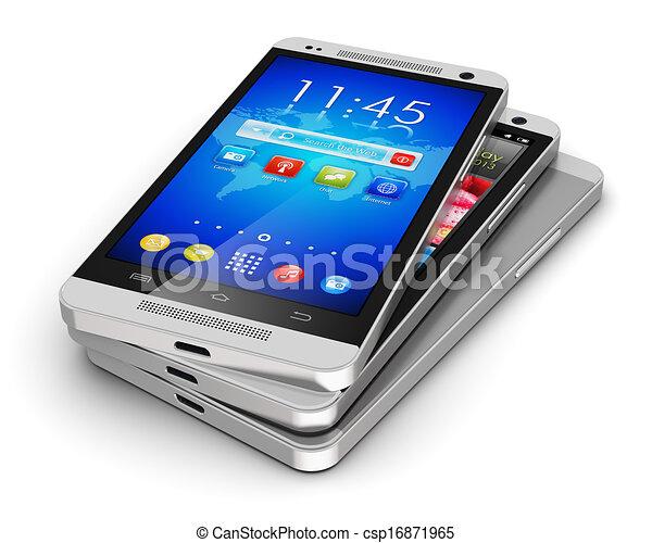 Teléfonos de pantalla táctil modernos - csp16871965