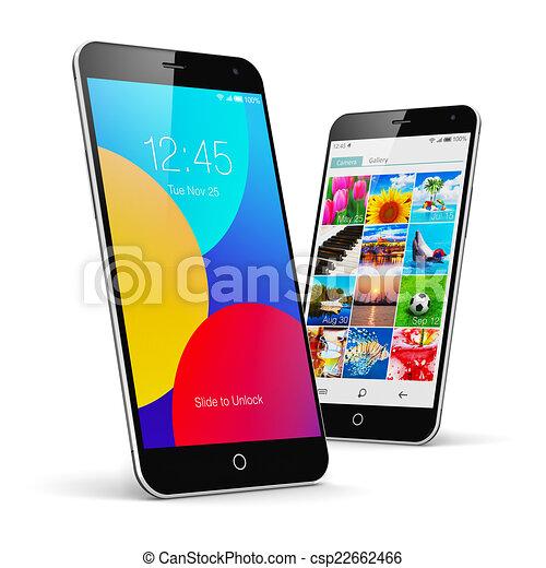 Teléfonos de pantalla táctil modernos - csp22662466