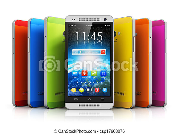 Teléfonos de pantalla táctil modernos - csp17663076