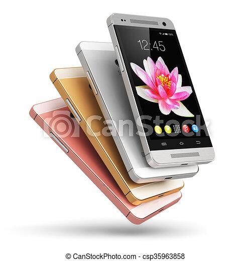 Teléfonos de pantalla táctil modernos - csp35963858