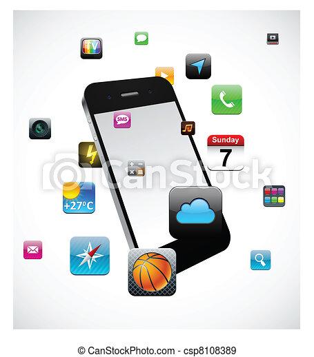 touchscreen, smartphone, concept. - csp8108389