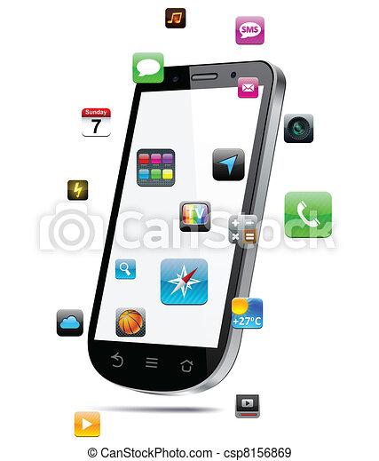 touchscreen, smartphone, concept. - csp8156869