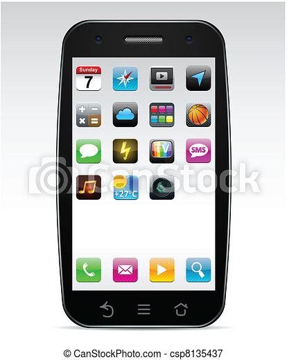 Touchscreen smartphone concept. - csp8135437