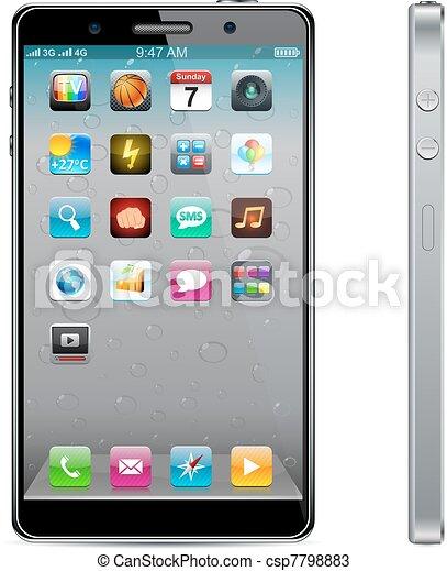 touchscreen, smartphone, concept. - csp7798883