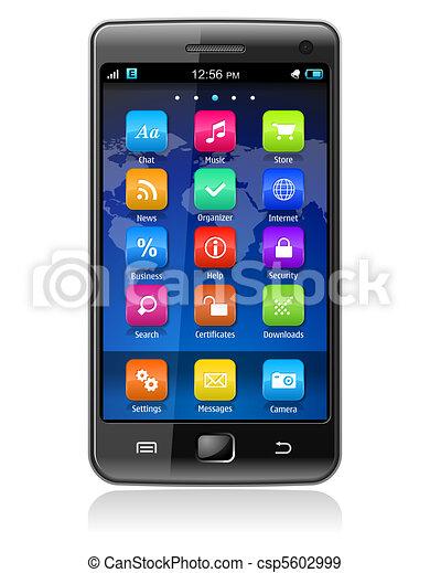 Un teléfono de pantalla tónica - csp5602999