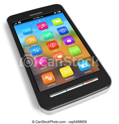 Un teléfono de pantalla tónica - csp5468659