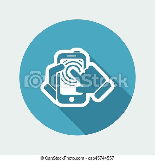 touchscreen, smartphone, icône - csp45744557