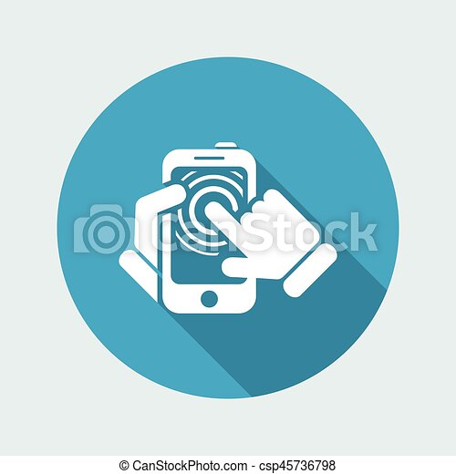 touchscreen, smartphone, icône - csp45736798