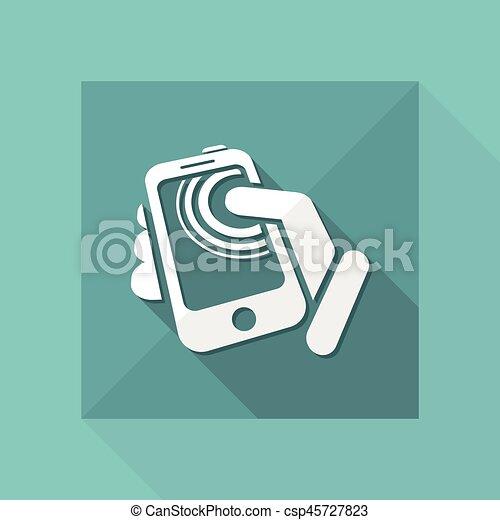 touchscreen, smartphone, icône - csp45727823