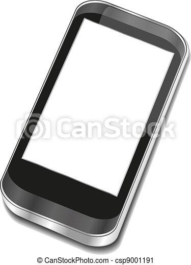 touchscreen, smartphone, résumé, -, iphon, 3d - csp9001191