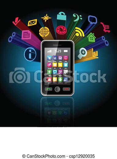 touchscreen, smartphone - csp12920035