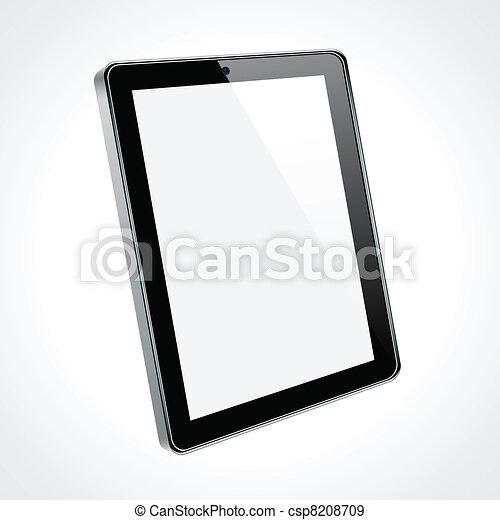 touchscreen, tablette, concept. - csp8208709