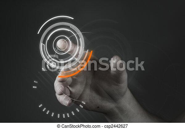 Tecnología de pantalla tocada - csp2442627