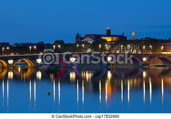 Toulouse at a summer night - csp17832460