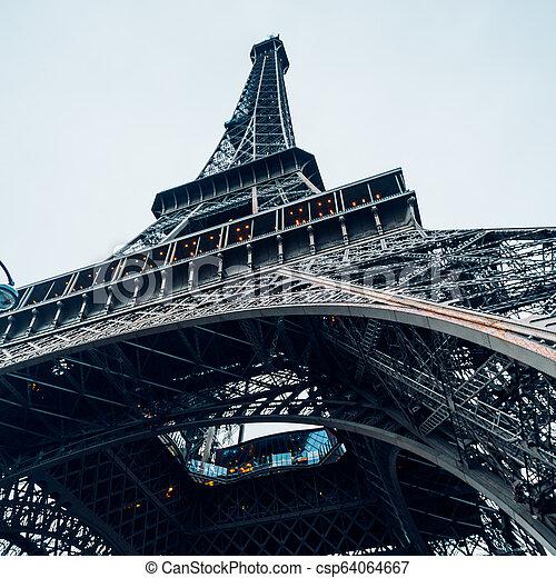 tour, eiffel, paris. - csp64064667