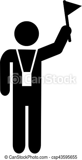 Tour guide pictogram. Underwater Clipart Black And White