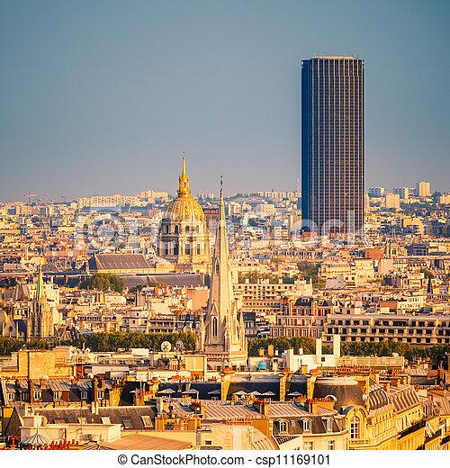Tour Montparnasse and Les Invalides, Paris - csp11169101