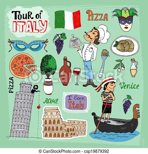 Tour of Italy illustration - csp19879392