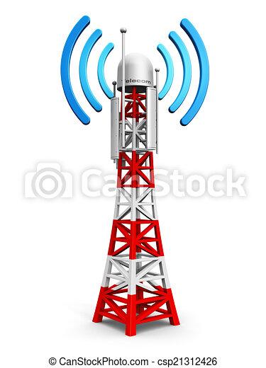 tour, télécommunication, antenne - csp21312426