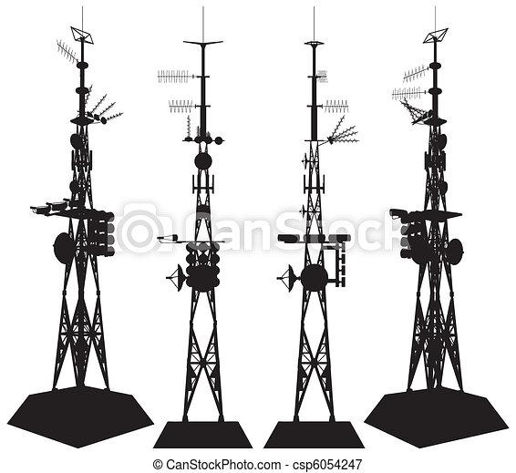 tour, télécommunications - csp6054247