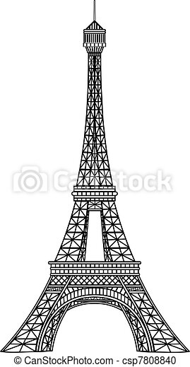 tour, vecteur, illustration, eiffel - csp7808840