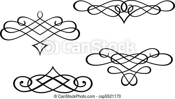 tourbillon, monogrammes, éléments - csp5521170