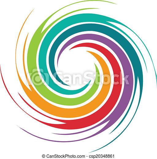 tourbillon, résumé, image, coloré - csp20348861